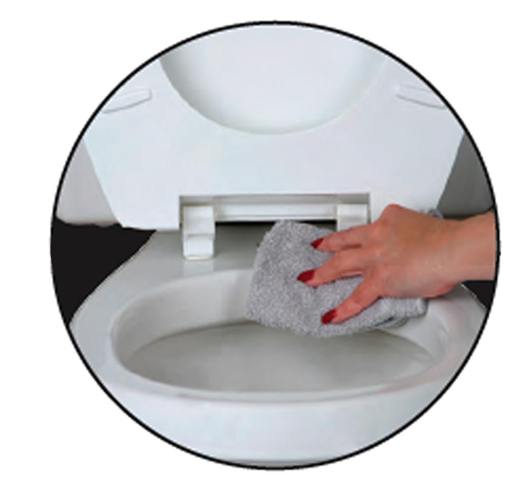 Beneke Heavy Duty Solid Plastic Round Front Toilet Seat